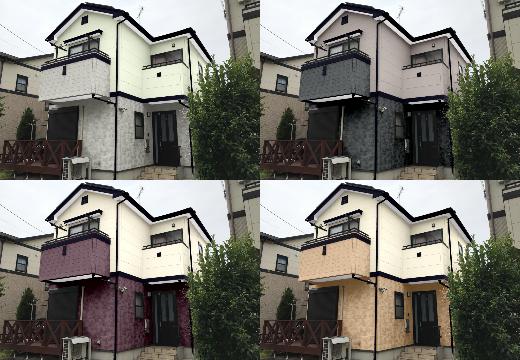 外壁 塗装 カラー シュミレーション