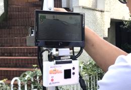 高所カメラを使用した屋根診断