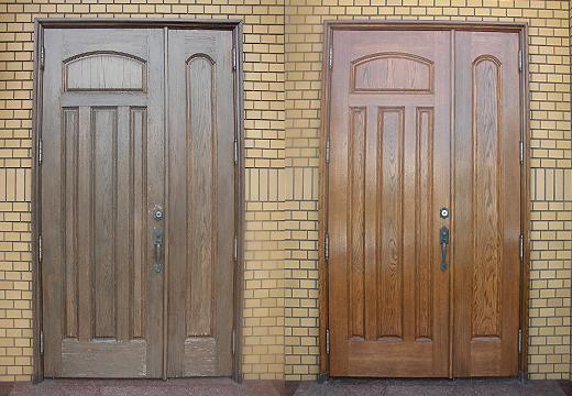 玄関ドア再生塗装